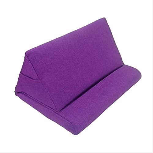Soporte De Tablet A para iPad, Almohadilla De Almohada, Almohadilla Plegable, Almohadilla para Casa, Oficina, Viaje Púrpura