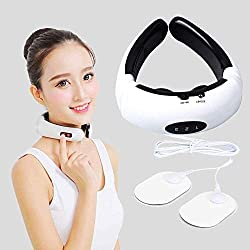 BICCQ Electric Pulse Back and Neck Massager Far Infrared Heating Pain Relief Tool Healthcare Relaxation Health Care Cervical Massager