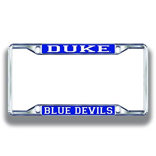 Duke Blue Devils License Plate Frame Silver