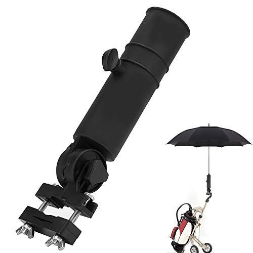 Rehomy Soporte universal para paraguas para carrito de golf, soporte de plástico, color negro, para cochecito de bicicleta, carro de bebé, asas de silla de ruedas