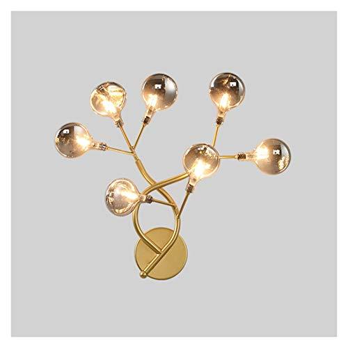 Aplique de pared Lámpara de pared de luciérnica creativa Moderna elegante lámpara de pared Dormitorio ligero Lámpara de noche Lámpara de escono de la pared para sala de estar Lámparas de pasillo de la