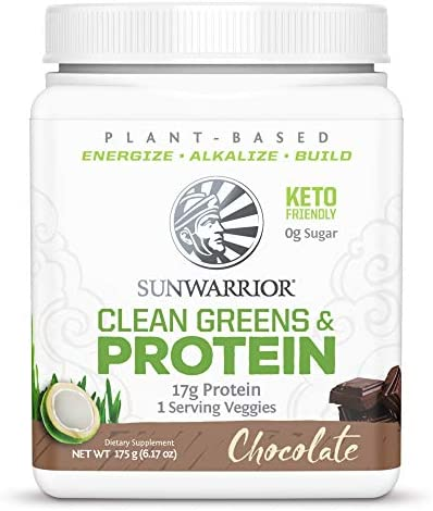 Sunwarrior Clean Greens Protein Vegan Clean Greens Protein Powder Superfood with BCAAs Dairy product image