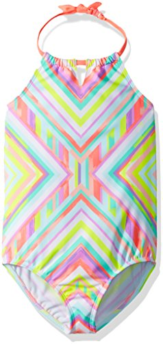 Osh Kosh Girls' Kids One-Piece Swimsuit, Kaleidoscope, 6-6X