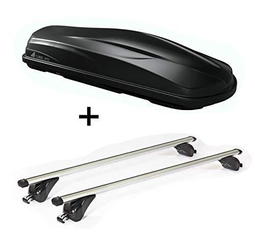Dakkoffer/bagagebox CUBE470 + dakdrager/raildrager VDPKING1 compatibel met Kia NIRO (5 deurs) vanaf 16