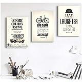Modern Vintage Paris Memory Bicycle Auto Poster Tapices de pared Decoración de impresión de arte (30X40Cm Sin marco)