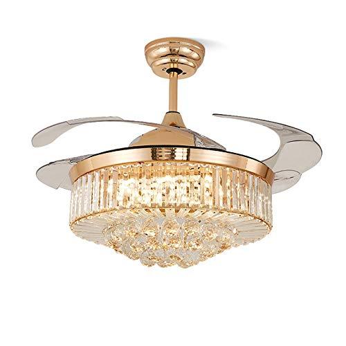 Luce Plafoniera Fashian Luz Europea multifunción sala de estar LED luz de techo del ventilador, el funcionamiento del mando a distancia inalámbrico, Protección de los ojos fuente de luz LED, diámetro