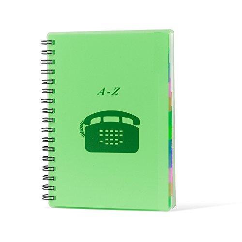 Pryse 4190024 - Índice teléfono, 303 x 215 mm, color verde