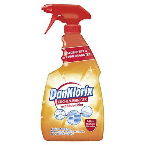 DanKlorix Küchen - Reiniger 750ml Spray, mit Aktiv - Chlor, gegen Fett & Eingebranntes