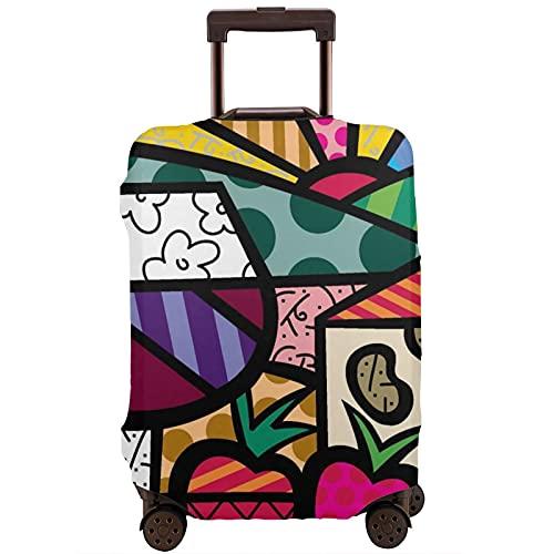 Kinsky Day Romero Britto - Copri-valigia lavabile per bagagli, bianco, 85