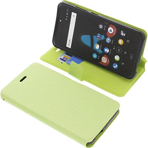 foto-kontor Tasche für Wiko Upulse Lite Book Style grün Schutz Hülle Buch
