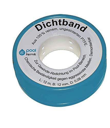 PTFE-Gewindedichtband, PTFE Band für Metall und Kunststoffgewinde, geeignet für Schwimmbad, Pool, Hausinstallation- und Industrie.