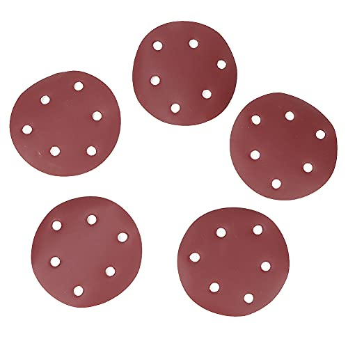 Papel de lija neumático de la almohadilla redonda, material de óxido de aluminio hecho de alúmina de la vida útil de la vida 125 mm