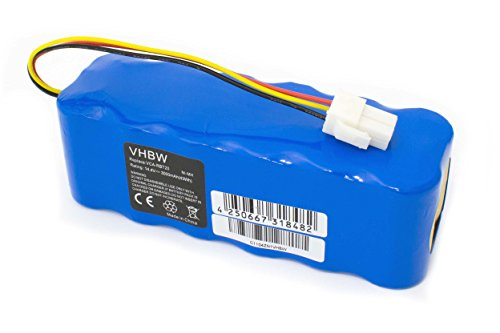 vhbw Batería Ni-MH 3000mAh (14.4V) para aspirador Samsung Navibot SR8750, VR10ATBATGY, SW, TRD, SW, VR10BTBATBB, SW, VR10BTBATUB, SW como VCA-RBT20.