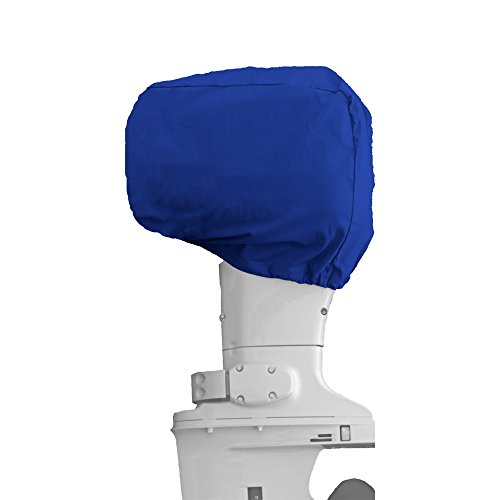 MSC Outboard Motor Cover,Half Outboard Motor Cover, Color Gray,Pacific Blue Available (Pacific Blue, Half Outboard fits 10 hp)