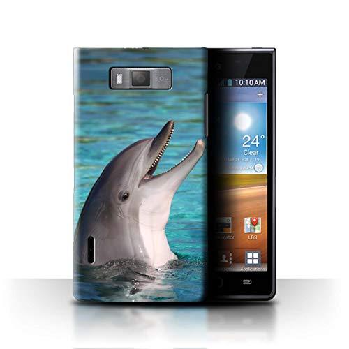 Stuff4 Hülle/Case für LG Optimus L7/P700 / Nettes Lachen Muster/Delfine Meereslebens Kollektion
