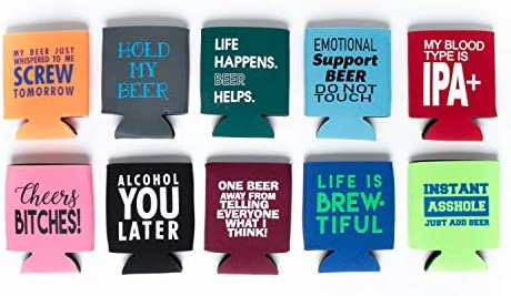 Beer Can Slim Coolie Funny 10 Pack product image