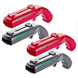 4 Pieces Cap Gun Bottle Opener Cap Gun Launcher Shooter Plastic Beer Openers for Home Bar Party Drinking Game ( Grey and Red )