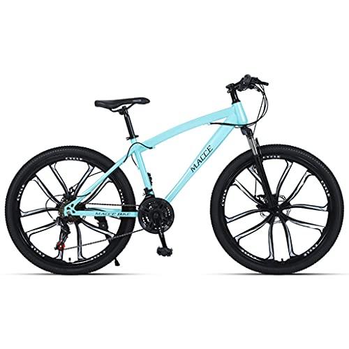 LHQ-HQ Bicicleta De Montaña para Adultos, Rueda De 26', 24 Velocidades, Suspensión De Horquilla, Freno De Disco, Bicicletas MTB Adecuadas para Hombres/Mujeres/Adolescentes,Verde