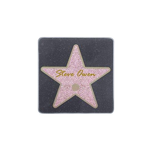 Thumbs Up 1001931 Conjunto de 6 Posavasos de Hollywood Sta, Cristal, Multicolor