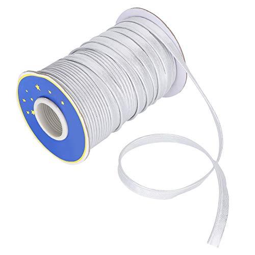 Tolhoom Braided Elastic Band 100 Yard 1//4 inch 6mm White Stretch Cord Heavy Sewing Braid Knit Rope Craft Width White, 70 Yard
