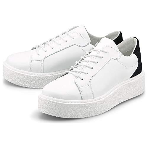Cox Damen Trend-Sneaker Weiß Glattleder 40