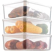 Nfudishpu Storage Box Refrigerator Nfudishpu Storage Box Plastic with Lid Large Capacity Kitchen Food Vegetable Fruit Stor...
