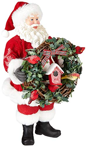 Department 56 Possible Dreams Santa Christmas Traditions for The Birds Figurine, 10.5 Inch, Multicolor