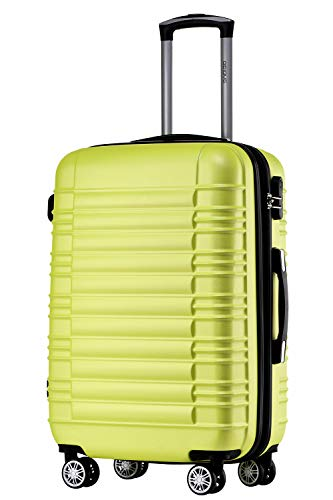 BEIBYE 2088 Zwillingsrollen Reisekoffer Koffer Trolleys Hartschale M-L-XL-Set in 13 Farben (Green, XL)