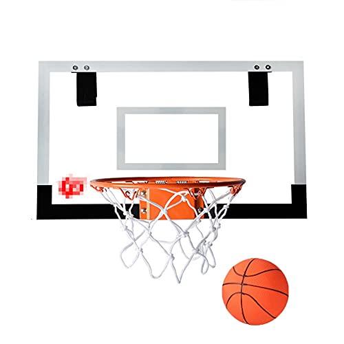 MHCYKJ Canasta Baloncesto Interior Casa De para Niños Colgar sobre Puertas Oficina Mini Junta Deportes En La Sala Infantil Juego Aro