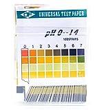 Voarge 100 tiras de 0 a 14 pH, indicador, papel de liar con indicador universal, prueba de acidez para acuarios y agua