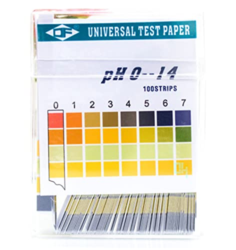 Voarge 100 Striscia 0-14 PH Indicatore, cartine tornasole, cartine con indicatore universale, test di acidità per acquari e per acqua po