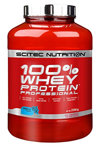 Scitec Nutrition Protein 100% Whey Protein Professional, Vanille, 2350g