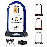 Master Lock 8195EURDPROCOL Catena Bici U, Chiave, Supporto per Il Trasporto, Certificato Antifurto, Ottimo per Bicicletta Elettrica, da Corsa, Colori Assortiti, 1 pezzo