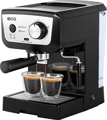 ECG ESP 20101 Black dźwigniowy ekspres do kawy, tworzywo sztuczne, 1,25 l