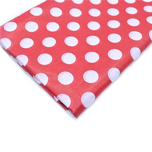 Miner 10 vellen inch tissuepapier Bloemkleding Overhemd Schoenen Geschenkverpakking Ambachtelijke papierrol Wijn inpakpapier, rode stip