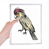 黄色い羽のオウムの鳥 硬質プラスチックルーズリーフノートノート