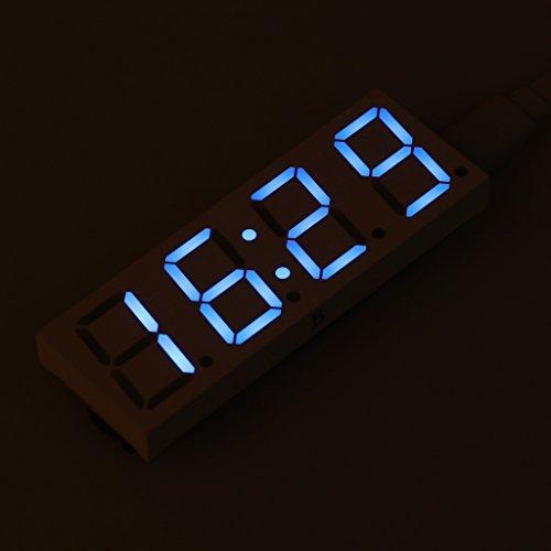 sunhoyu Funk Wanduhr Küchenuhr, Ds3231 Elektronische Uhr - BlauDekoration fürs Wohnzimmer Kinderzimmer