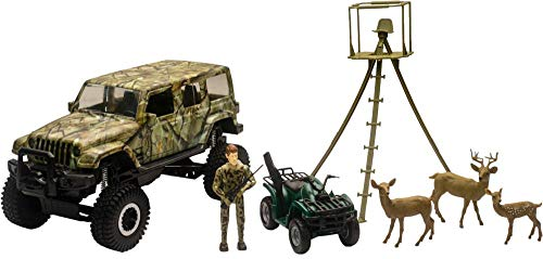 New-Ray 1:18 Scale Jeep Wrangler Deer Hunting Set