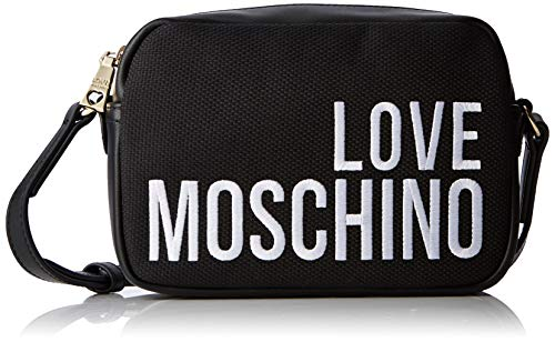 Love Moschino Damen Canvas Tote, Schwarz (Nero), 15x10x15 centimeters