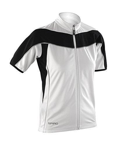 Spiro Femme Bikewear Full Zip Tops XL Blanc/Noir