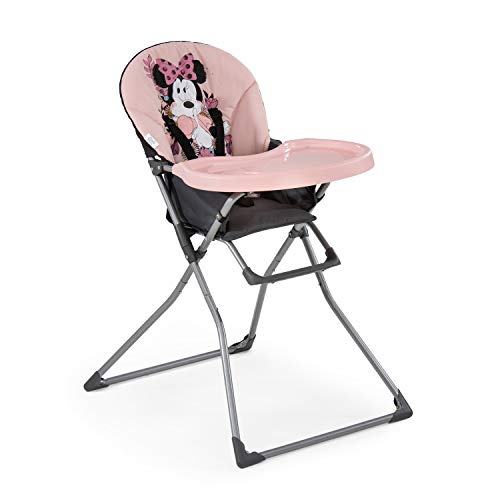 Hauck Disney Mac Baby Kinderhochstuhl, Essbrett mit Bechervertiefung, zusammenklappbar, ab 6 Monaten, Rosa