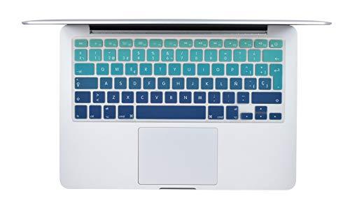 Protector Skin de Teclado para MacBook Compatible con: MacBook Pro 13'' A1278 / MacBook Pro 15'' A1286 / MacBook Air 13'' A1369 ó...