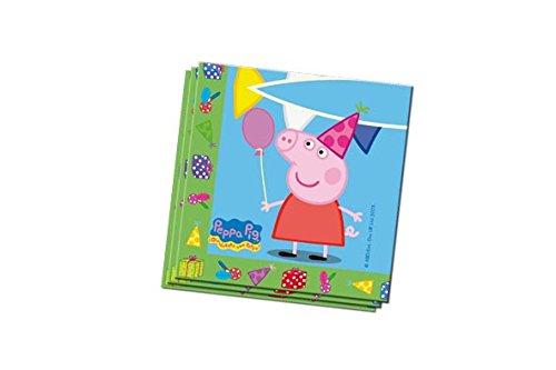Peppa Pig - 20 servilletas, 33x33 cm (Verbetena 016000798)