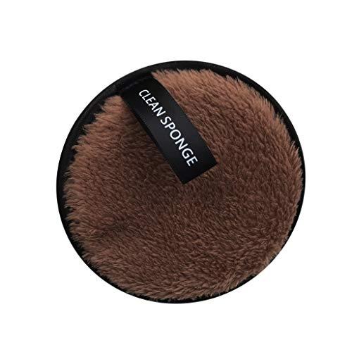 Esponja de microfibra para limpieza facial de maquillaje, polvo para polvo compacto redondo