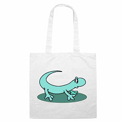 Tasche Umhängetasche Motiv Nr. 10579 Gecko Echse Cartoon Spass Spaß Kult Film Serie DvdCartoon Spass Fun Kult Film Serie