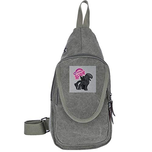 AHISHNF My Little Alien My Little Pony Reise-Brusttasche für Männer und Frauen, Mehrzweck-Tagesrucksack, Wandern, Schultertasche