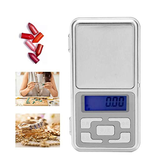 Pocket Digital Gram Scale, High Precision 0.01g Mini Scale with LED Display Screen for Jewelry, Diamond, Gold, Coin, Lipstick DIY Material, Food and Weed