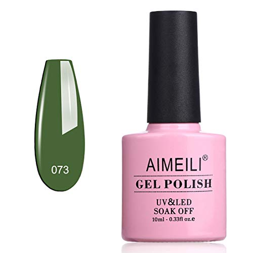 AIMEILI UV LED Gellack Gel Nagellack Dunkelgrün Gel Nail Polish - Kale (073) 10ml