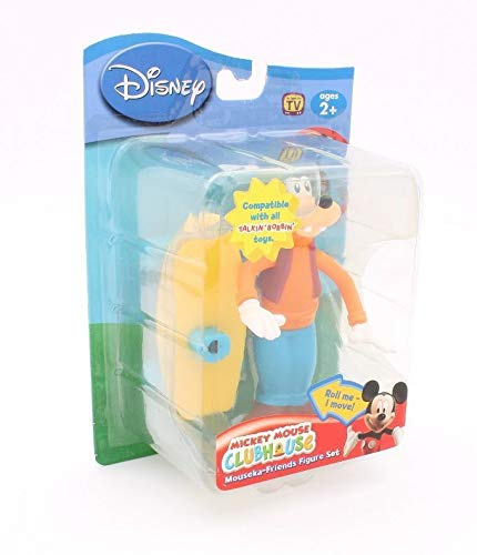 Disney - Mickey Mouse Clubhouse / Micky Maus Wunderhaus - Mouseka-Friends Figur Set - GOOFY & Skateboard