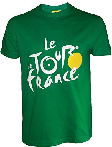 Le Tour de France Herren T-Shirt, offizielle Kollektion, Erwachsenengröße S grün